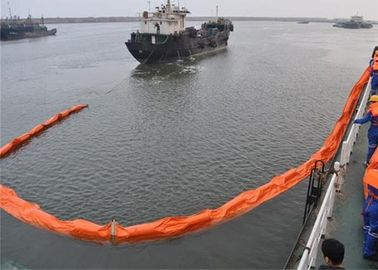 PVC Spill Containment Boom , Floating Oil Boom Working Tensile Strength 20 To 130kN
